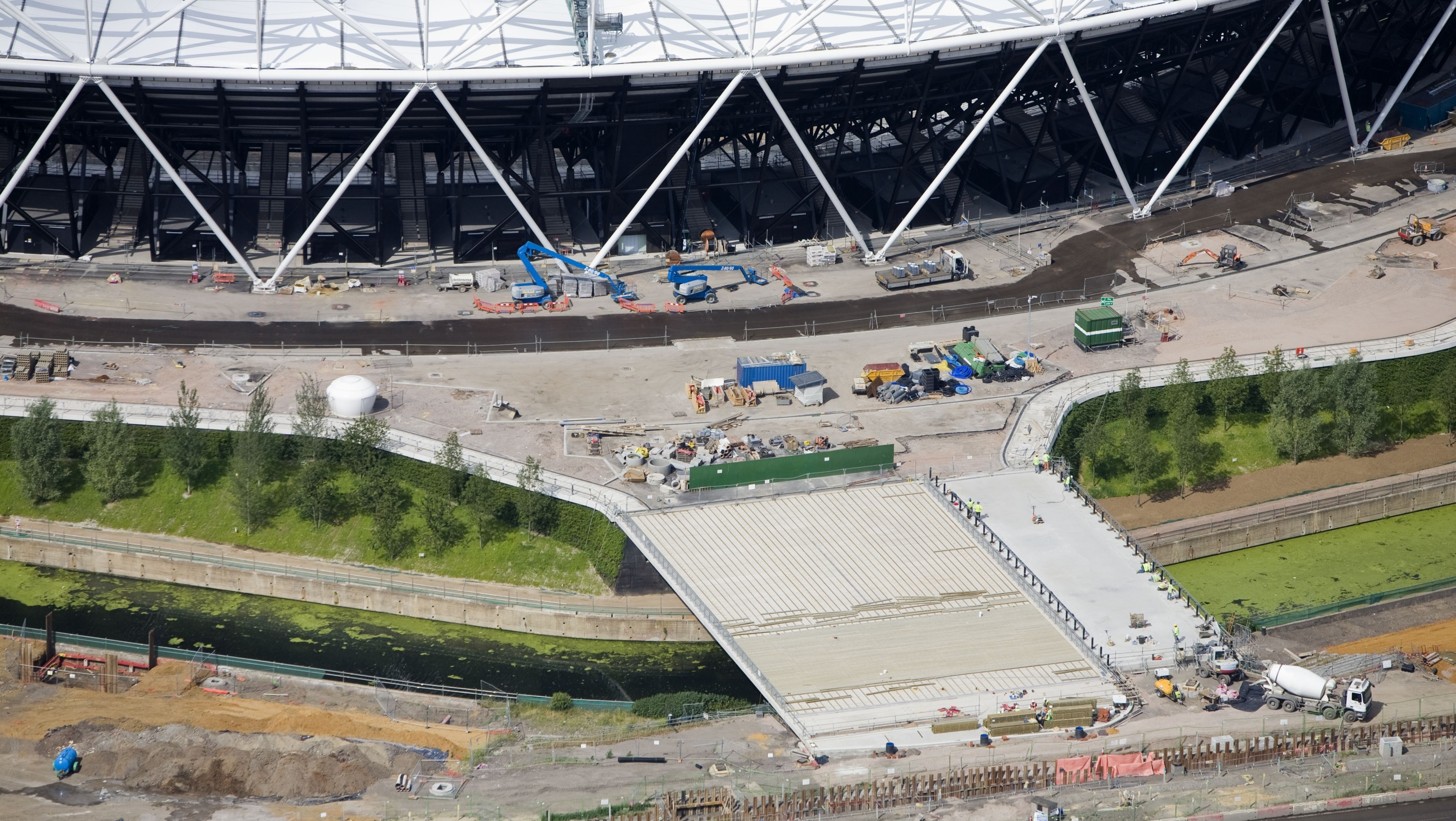 Olympic Park Stadium and Rail Over Bridges