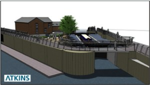 3D impression of the refurbished lock