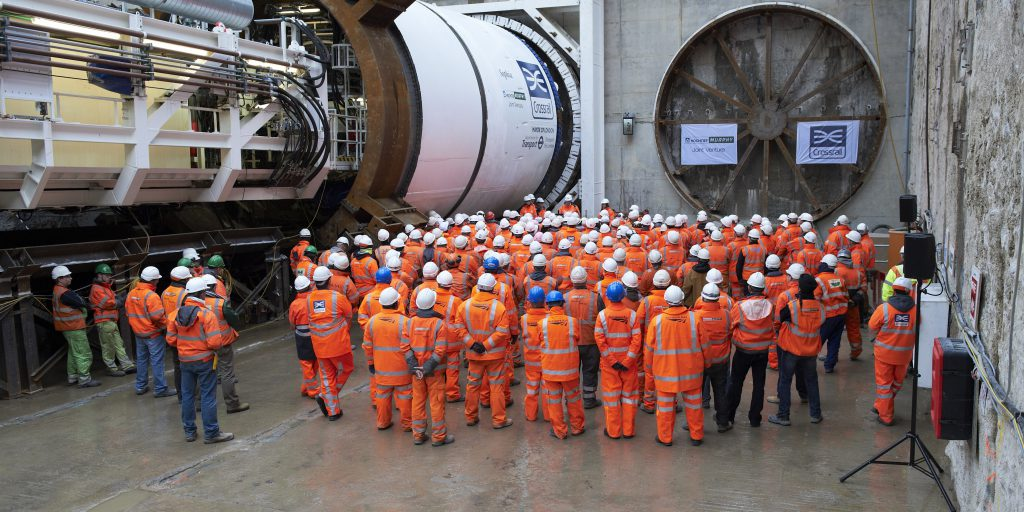 "Launch ceremony of TBM ""Sophia"" at Plumstead Portal"