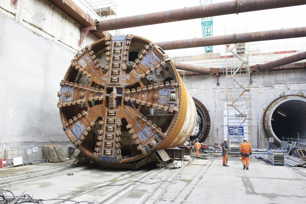 "TBM ""Mary"" breaks through at Woolwich station"