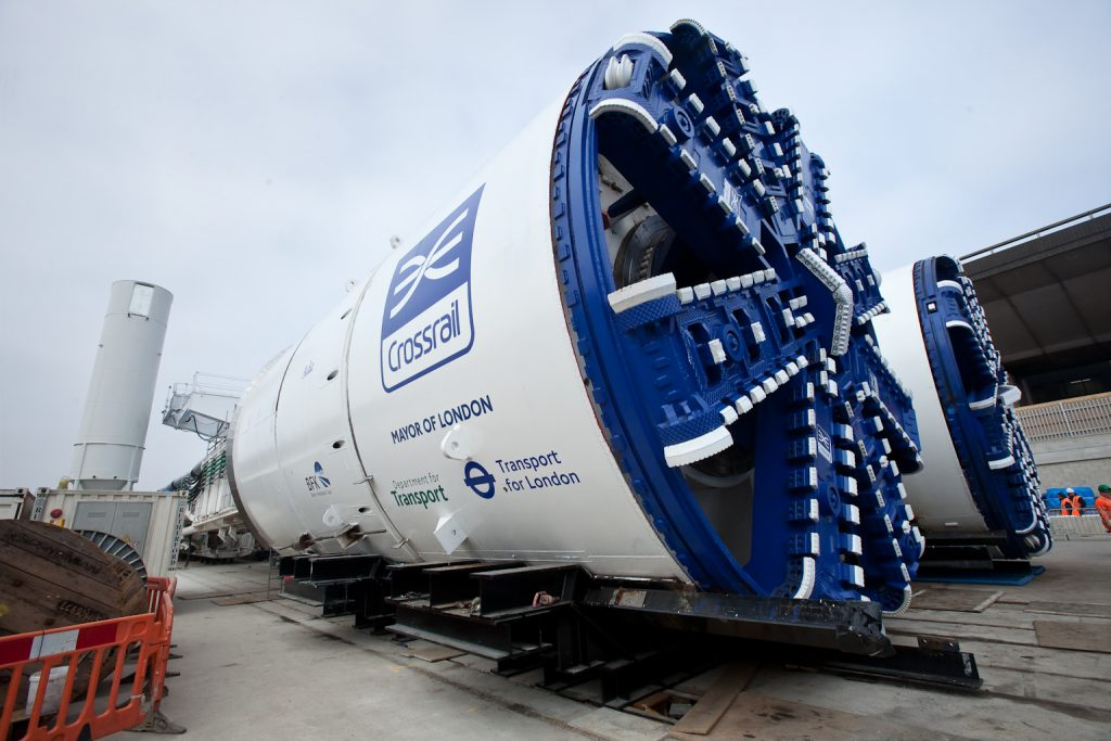 TBMs for Crossrail C300/410 at Westbourne Park
