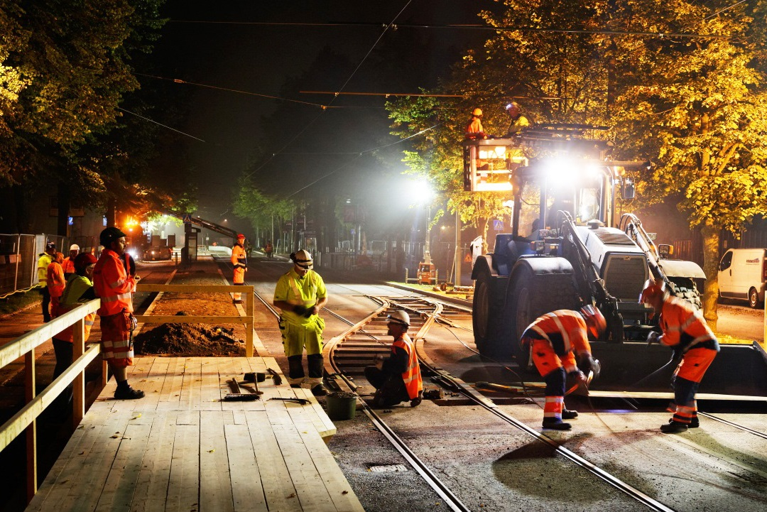 Spårväg City Line 7 Accessibility Upgrade (Part 1) in Stockholm, Sweden | CEEQUAL Excellent (86.4%) – Construction Award | Image: Kjell-Arne Larsson