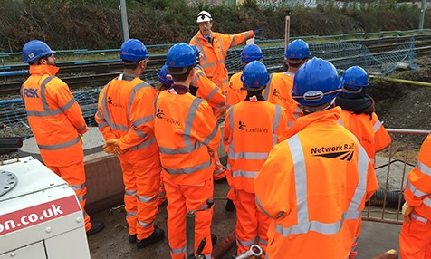 Students visit the construction of Action Dive-Under