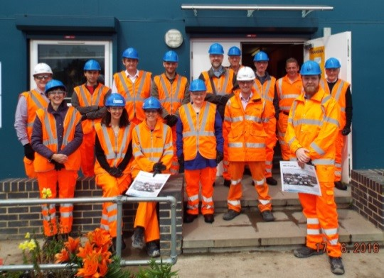 Site team including graduates and operatives from the local area