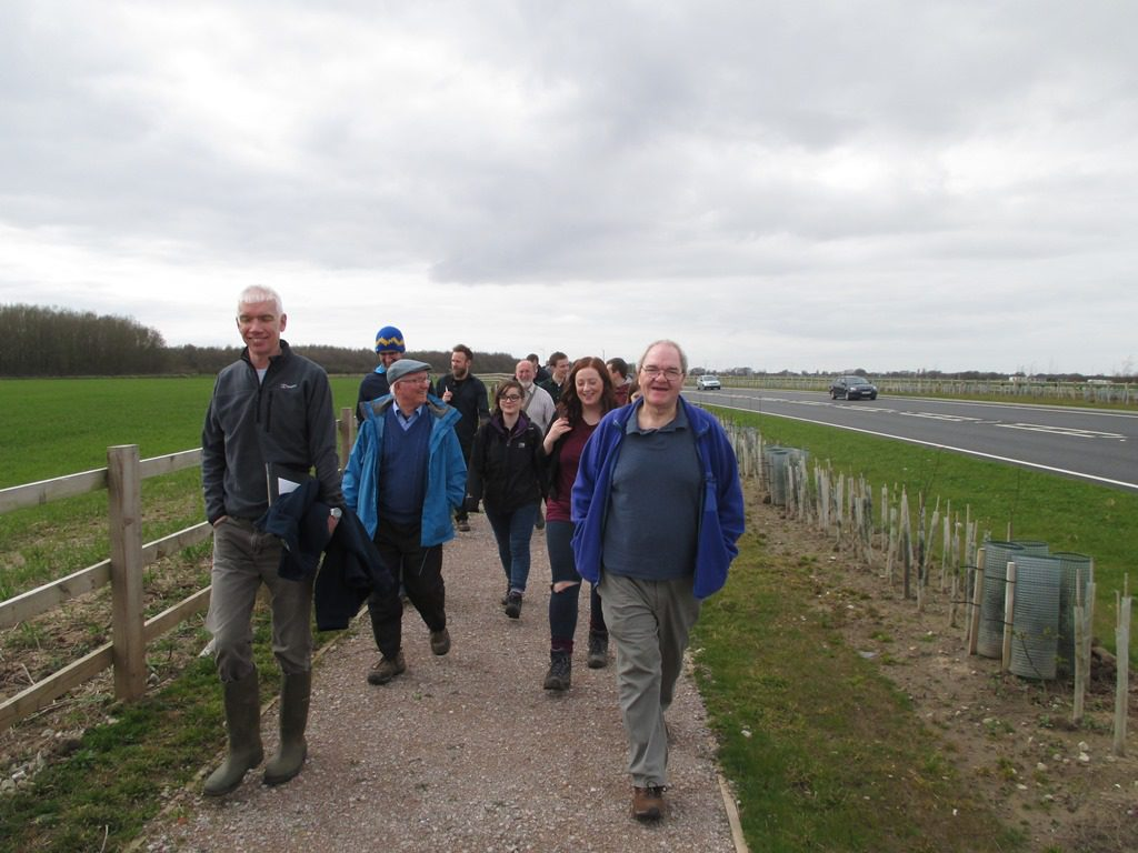 CIEEM ecologists visited the new road in spring 2016 to see the environmental mitigation measures.
