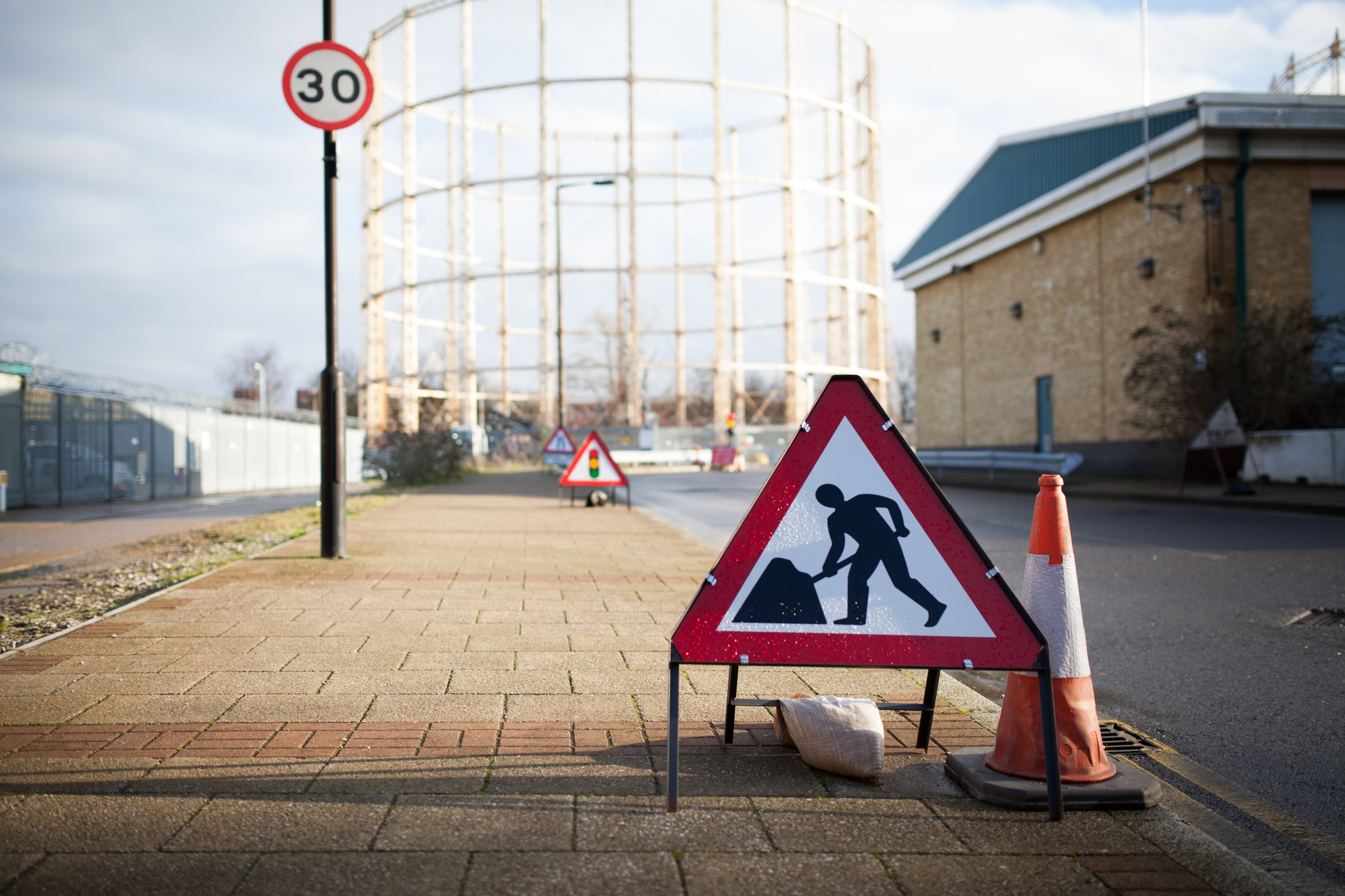London roadworks by Tom Page on Flickr