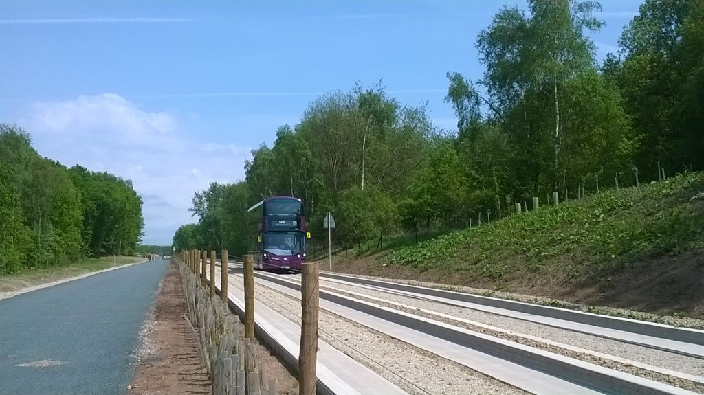 Completed guided busway