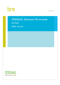 Cover page for CEEQUAL Version 6 fee sheet (FS095)