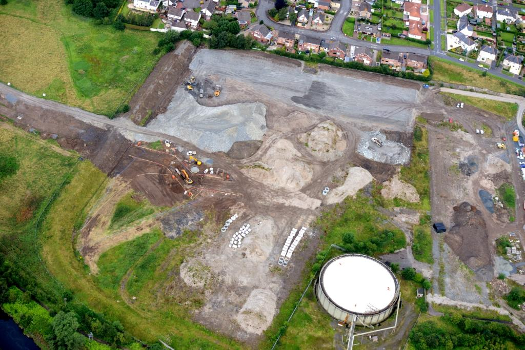 Aerial image of North Lodge upfill site