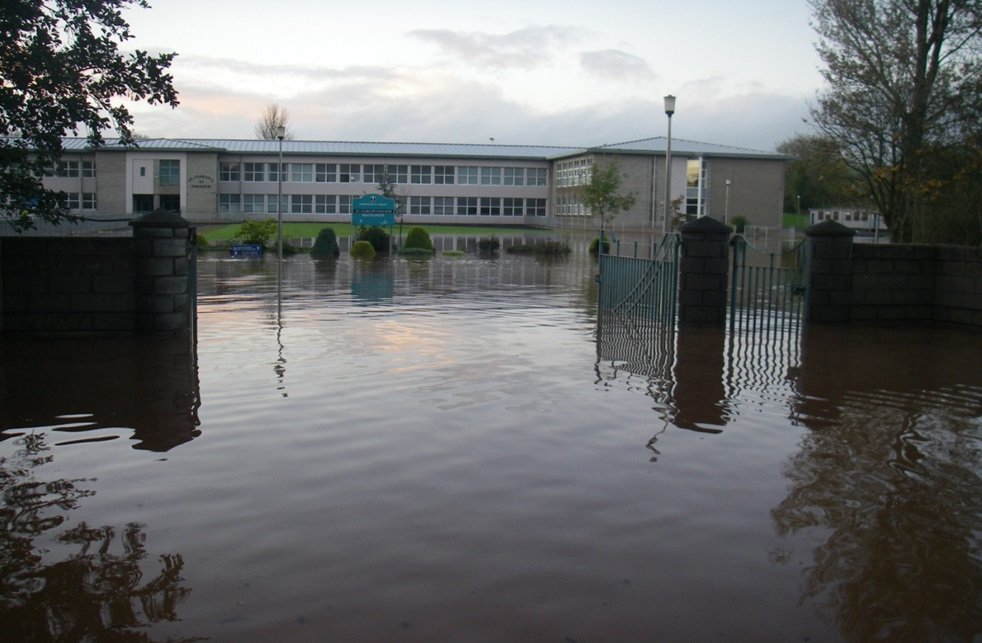 Flooding at St Ciarans High School