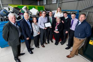 Perry Shard (CEEQUAL Verifier) presents 'Excellent' Whole Team Award for MRWA Old Swan Household Waste Recycling Centre