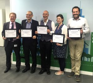 Huyton & Roby Capacity Scheme team (Mott MacDonald, Network Rail, Buckingham Group) receive 'Excellent' Whole Team Award